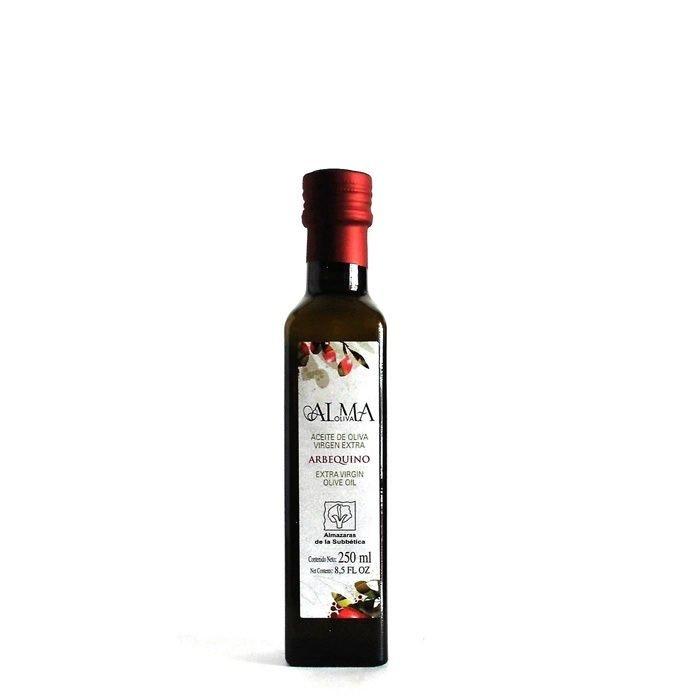 Almaoliva Aceite de Oliva Virgen Extra Monovarietal Arbequino Frontal Botella 25 cl • AtracoM Comercio Cashback