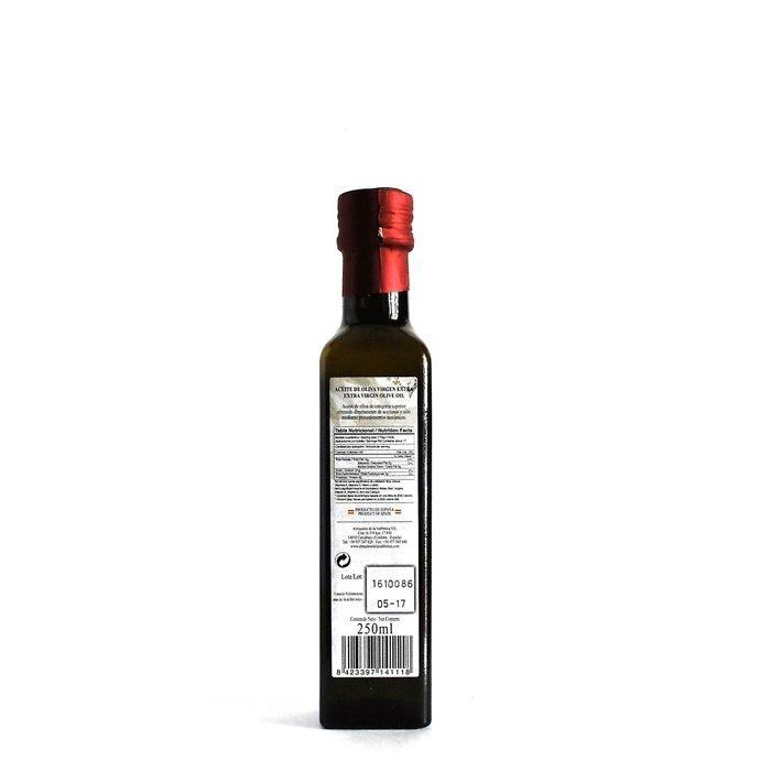 Almaoliva Aceite de Oliva Virgen Extra Monovarietal Arbequino Trasera Botella 25 cl • AtracoM Comercio Cashback