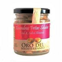 Almendra Marcona Frita con Sal Oro del Mediterráneo • Tarro 140g • Frontal • AtracoM la compra redonda!! • Comercio Cashback
