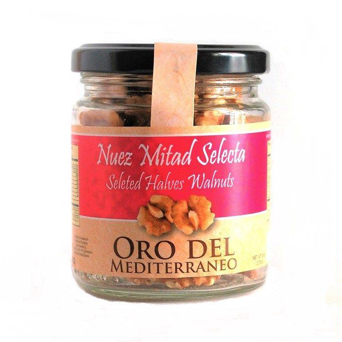 Nuez Mondada en Mitades Oro del Mediterráneo • Tarro 90g • Frontal • AtracoM la compra redonda!! • Comercio Cashback