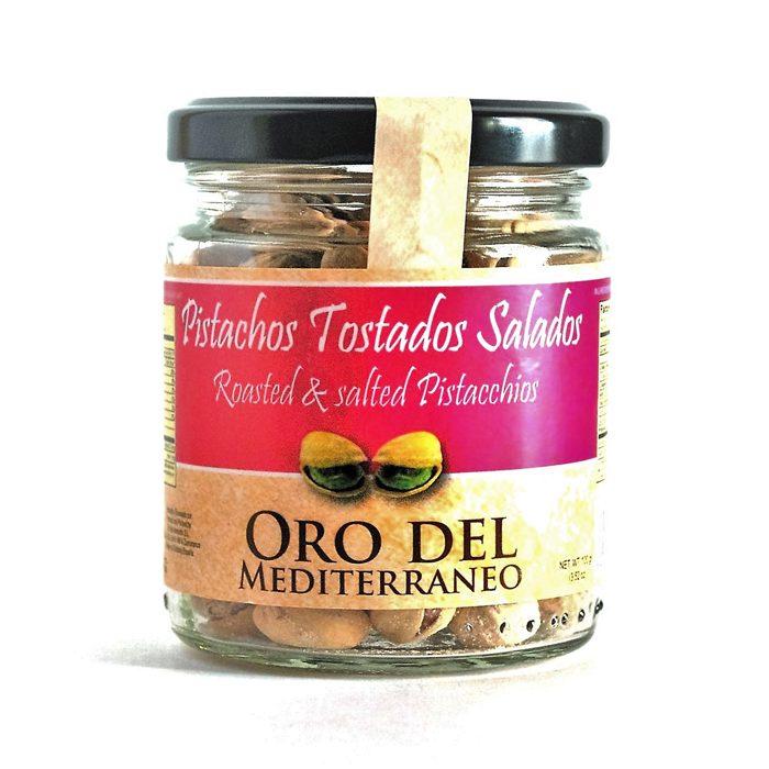 Pistacho con Cáscara Tostado Abierto Oro del Mediterráneo • Tarro 100g • Frontal • AtracoM la compra redonda!! • Comercio Cashback