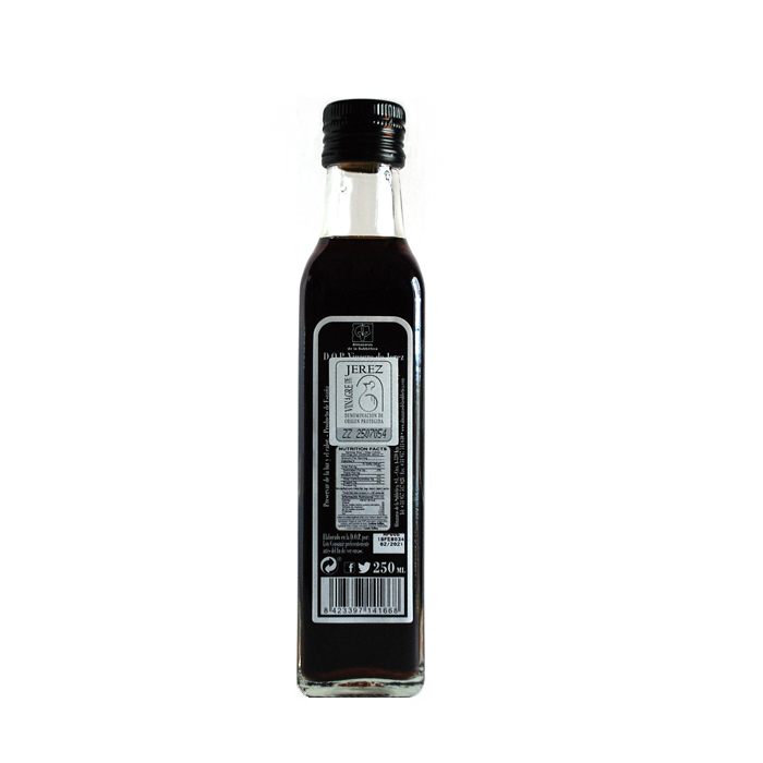 Parqueoliva Vinagre de Vino DOP Jerez • Botella 25 cl • Trasera • AtracoM • Comercio Cashback