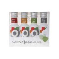 Oleícola Jaén Aceite Oliva Virgen Extra Estuche • 4 x Botella 10 cl • AtracoM Comercio Cashback
