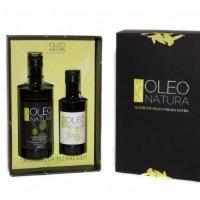 Oleo Natura Aceite de Oliva Virgen Extra Selección Estuche Regalo • 2 Botellas de 25 y 50 cl