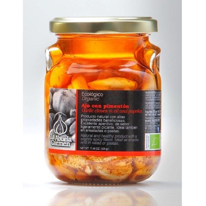 La Abuela Carmen Ajos Bío con Aceite y Pimentón Tarro 175 g • AtracoM Comercio Cashback