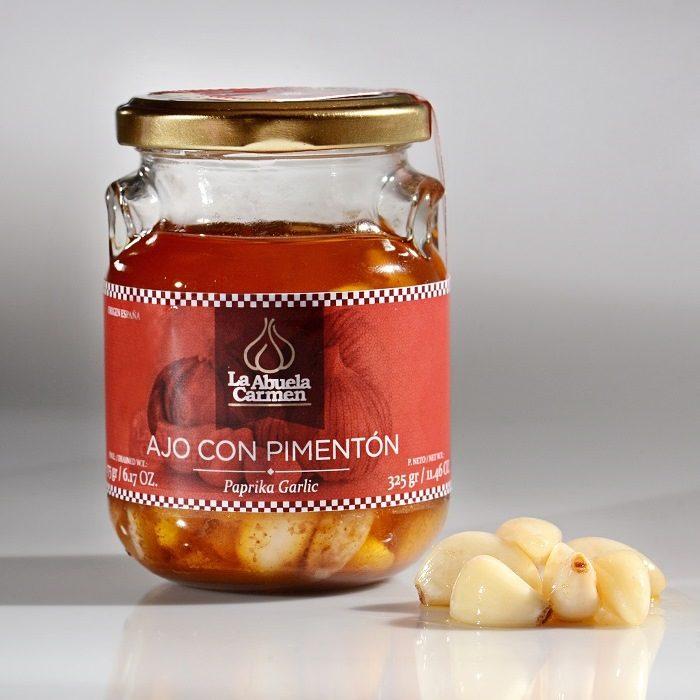 La Abuela Carmen Ajos con Aceite y Pimentón Tarro 175 g • AtracoM Comercio Cashback
