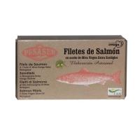Pesasur Lomos Salmón Salvaje Aceite de Oliva Virgen Extra Ecológico Lata 125 g • AtracoM Comercio Cashback