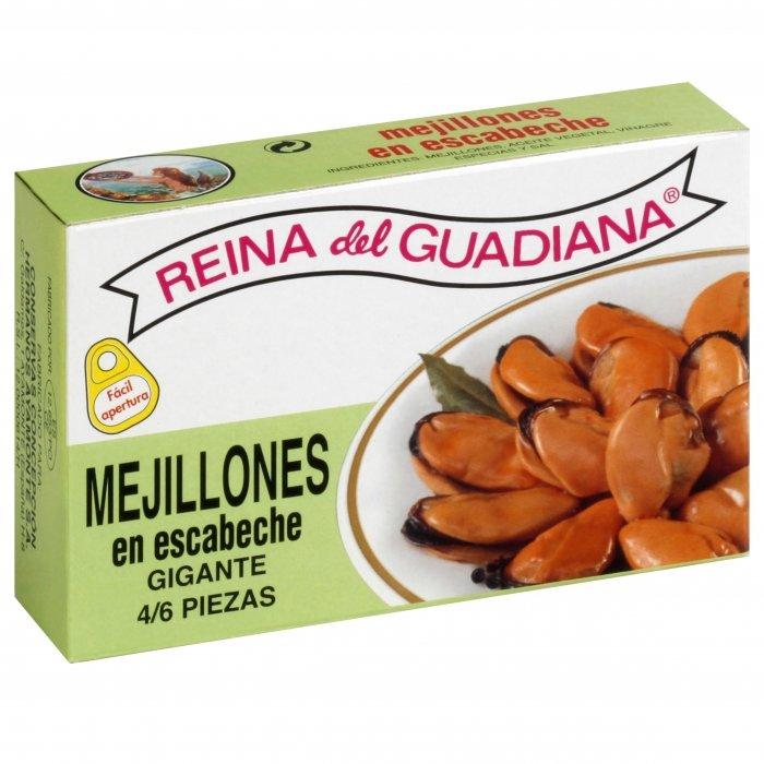 Reina del Guadiana Mejillones en Escabeche 4/6 Piezas • AtracoM Comercio Cashback