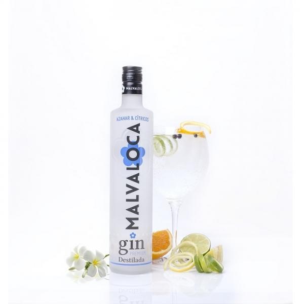 Malvaloca Azahar y Cítricos Gin Destilada Premium • Botella 70 cl • AtracoM Comercio Cashback