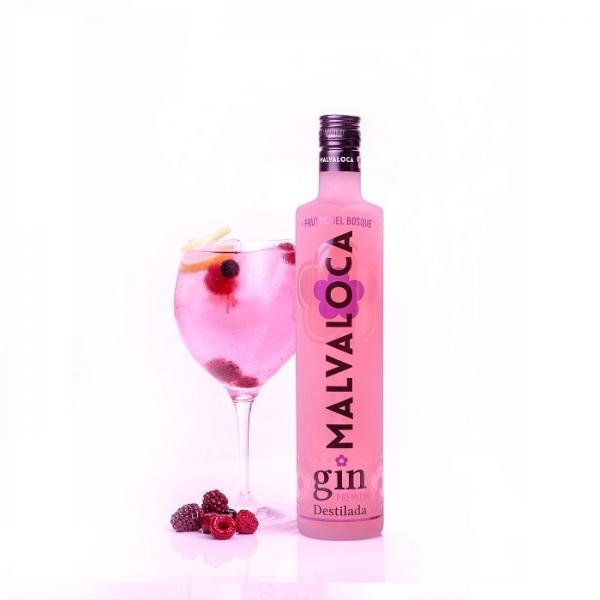 Malvaloca Frutos del Bosque Gin Destilada Premium • Botella 70 cl • AtracoM Comercio Cashback