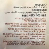 Francisco Morales Almendra Marcona Frita con Sal • Bolsa 500g • Detalle AtracoM Comercio Cashback